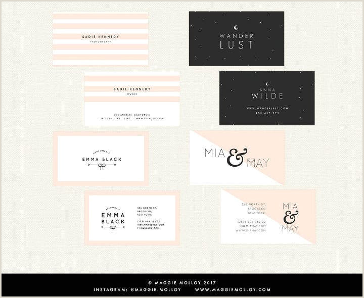 Unique Girly Business Cards 12 Feminine Business Card Designs & Templates Psd Ai