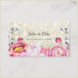 Unique Girly Business Cards With No Writing Girly Business Cards