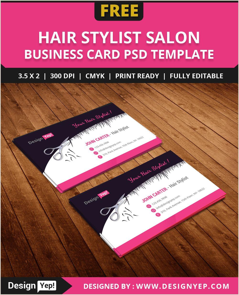 Unique Haircut Templates For Business Cards Free Hair Stylist Salon Business Card Template Psd