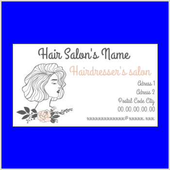 Unique Hairdresser Business Cards Free Printable Hairdressing Business Card