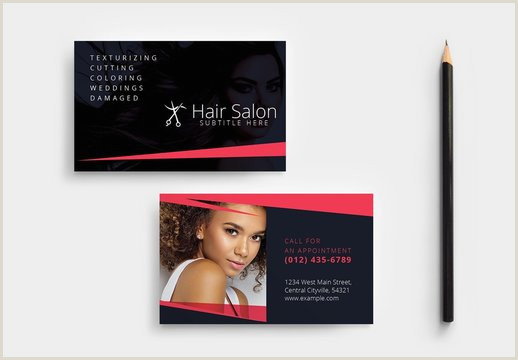 Unique Hairdresser Business Cards Hair Salon Business Card Photos Royalty Free Images