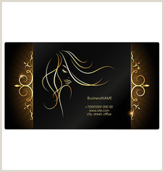 Unique Hairdresser Business Cards Hair Salon Business Card Vector Over 5 900