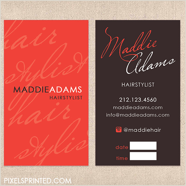 Unique Hairdresser Business Cards Hairstylist Business Cards