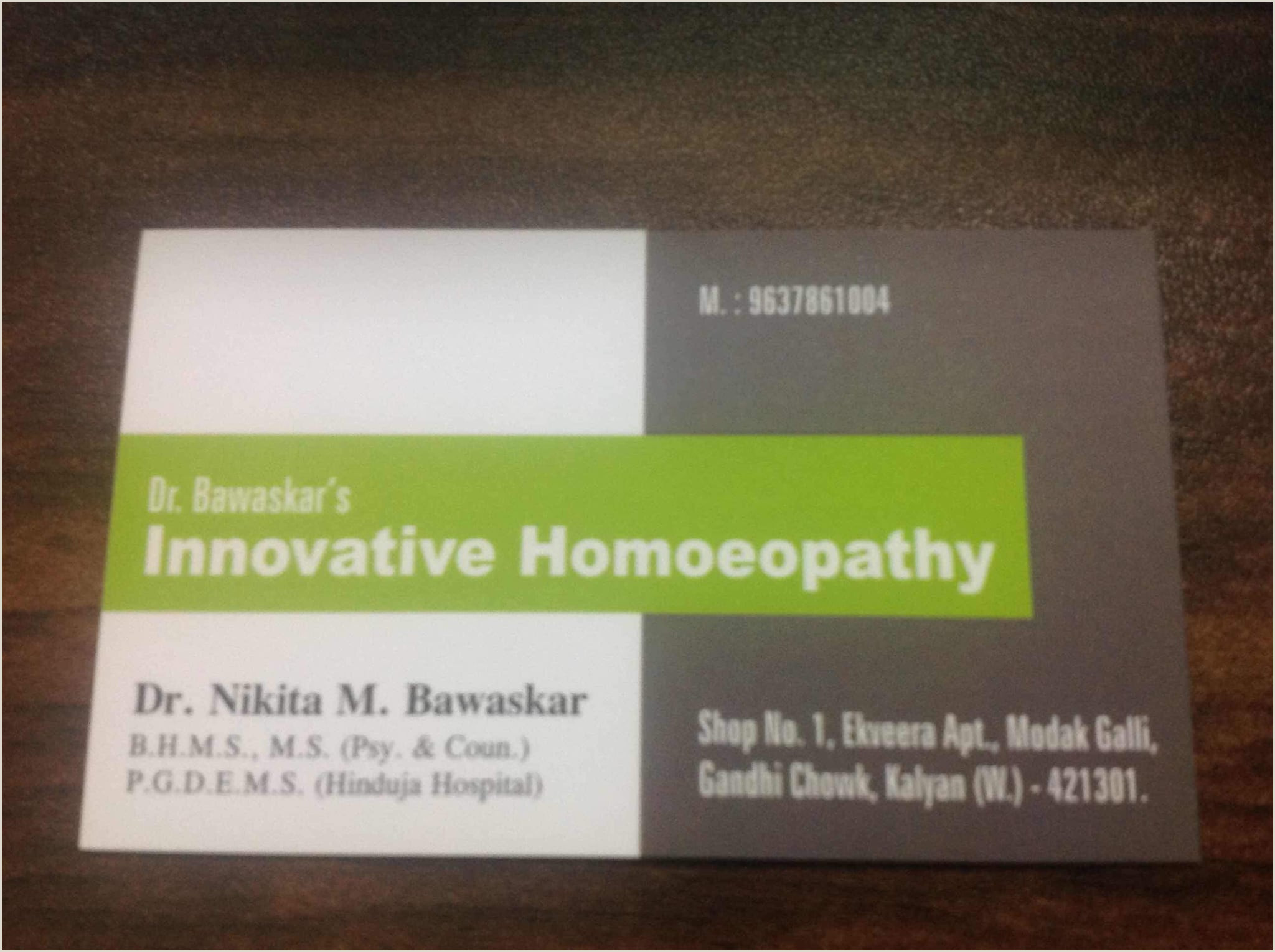 Unique Homepathic Personal Business Cards Card Design Homeopathic Homeopathy Doctor Visiting Card Design