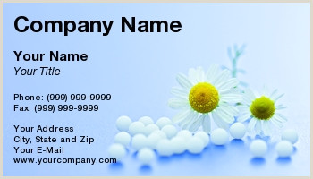 Unique Homepathic Personal Business Cards Homeopathic Business Cards