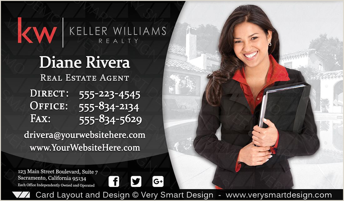 Unique Keller Williams Business Cards Keller Williams Real Estate Business Card Design 3d White