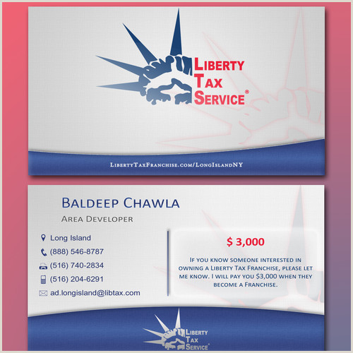 Unique Liberty Tax Business Cards Stationery For Liberty Tax Service