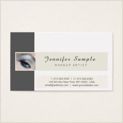 Unique Makeup Business Cards Makeup Artist Cosmetologist Elegant Professional Business