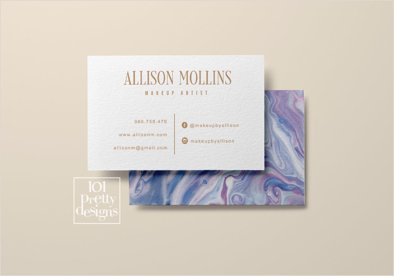 Unique Makeup Business Cards Marble Business Card Printable Business Card Design Blogger