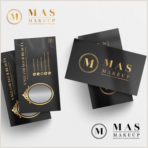 Unique Makeup Business Cards Unique Luxury Logo & Business Card For Makeup Artist