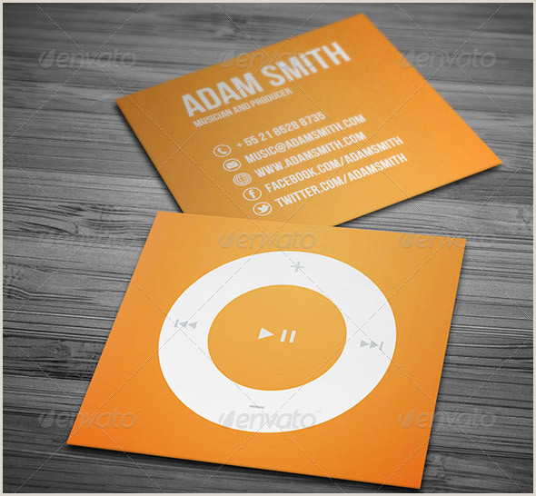 Unique Music Business Cards 23 Great Music Business Card Psds – Desiznworld