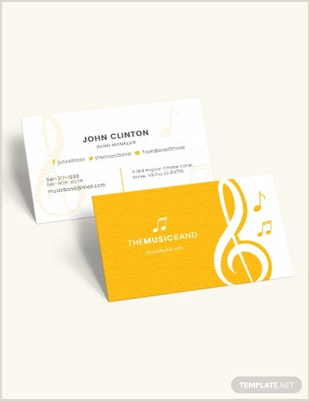 Unique Music Business Cards 26 Music Business Card Templates Psd Ai Word