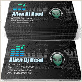 Unique Music Business Cards ✅ 72 Music & Dancing Business Card Examples