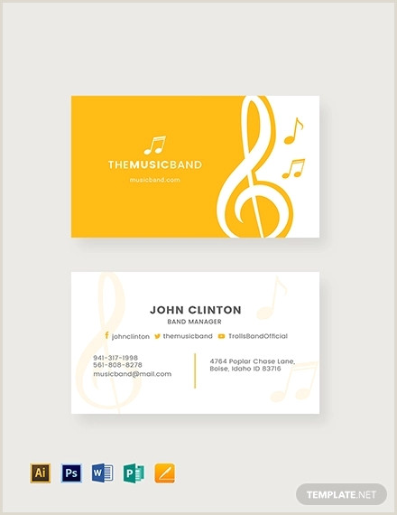 Unique Music Business Cards Free 19 Music Business Card Templates In Publisher