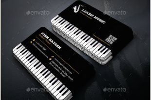 Unique Musician Business Cards ✅ 72 Music & Dancing Business Card Examples