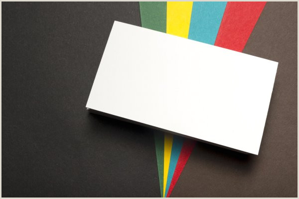 Unique Paper For Business Cards Business Card Blank Over Colorful Abstract Background