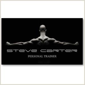 Unique Personal Trainer Business Cards Professional Personal Trainer Bodybuilder Card Business