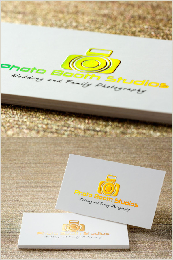 Unique Photobooth Business Cards Double Layered Professional Business Card