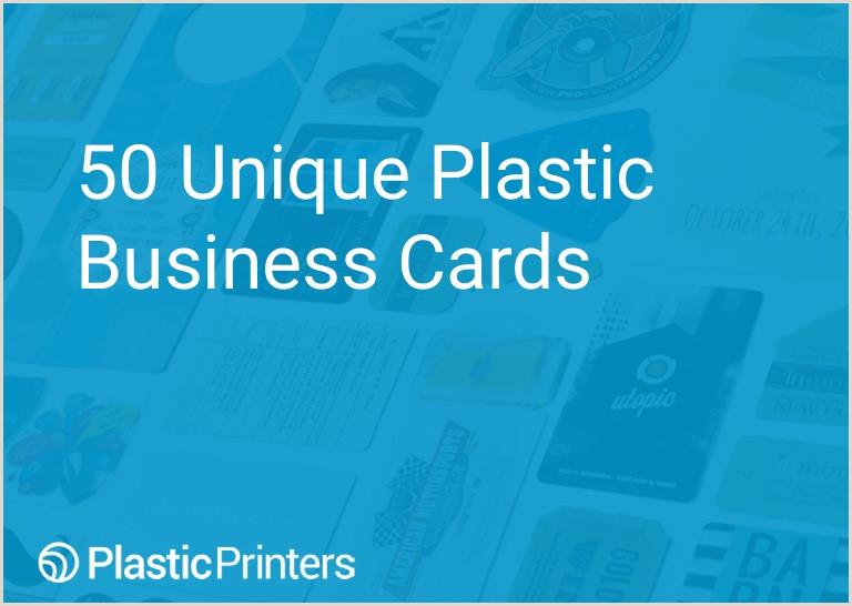 Unique Plastic Business Cards 50 Unique Plastic Business Cards