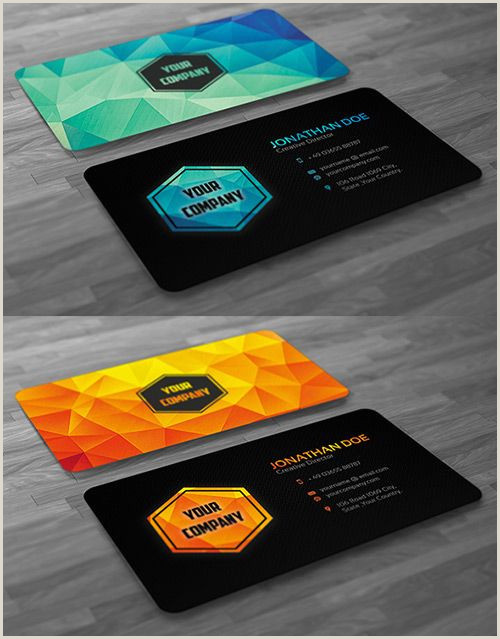 Unique Politcal Business Cards A Pilation Of Creative Low Poly Business Cards