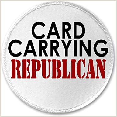 """Unique Politcal Business Cards Amazon Card Carrying Republican 3"""" Sew Iron Patch"""