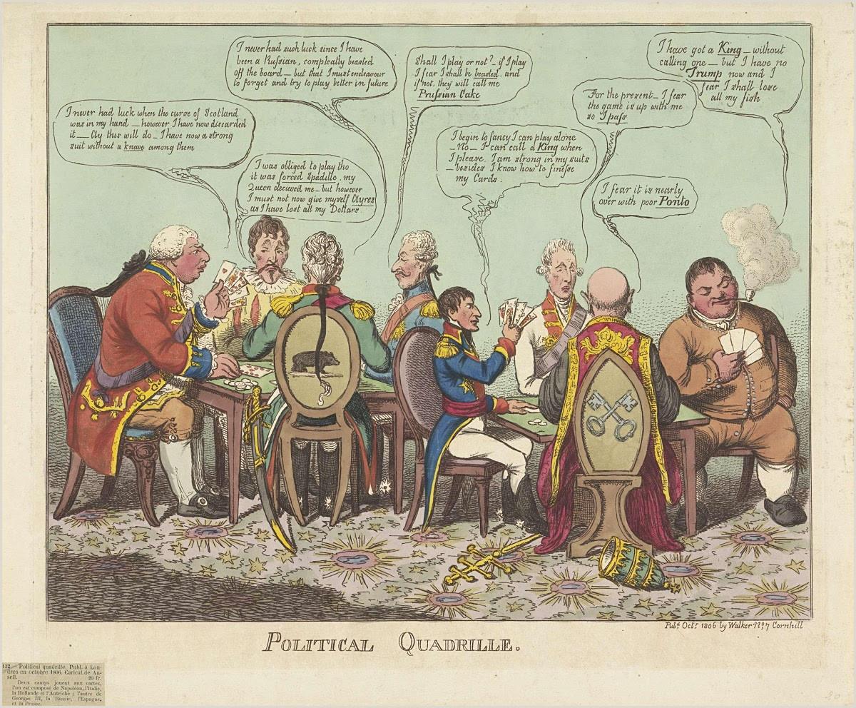 Unique Politcal Business Cards Politiek Quadrille 1806 Charles Williams Walker — Google