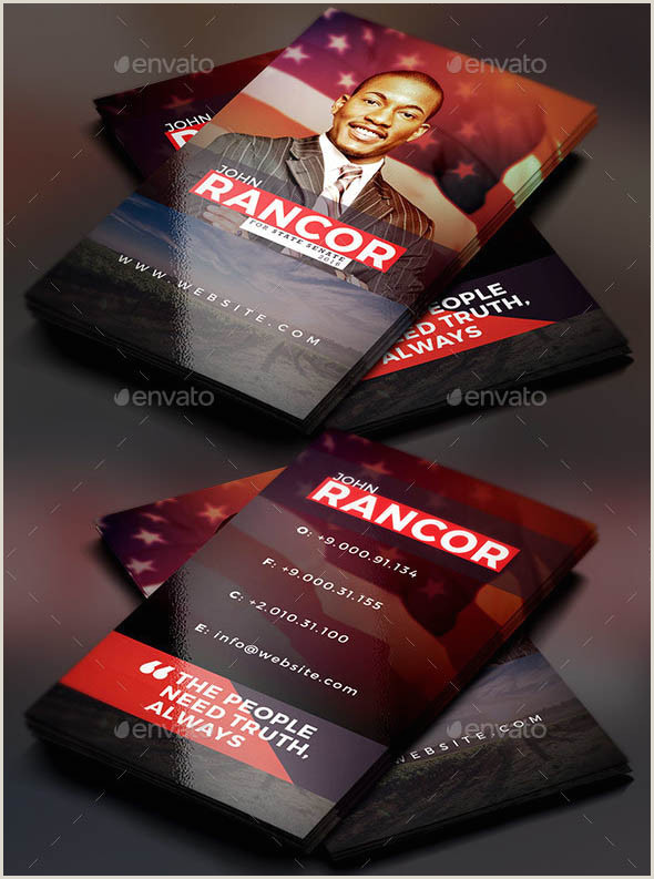 Unique Political Business Cards 15 Creative Political Business Card Templates – Smashfreakz