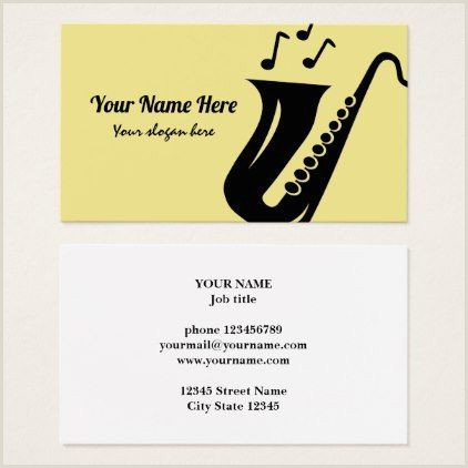 Unique Position Names On Business Cards Saxophone Business Card Template For Musician