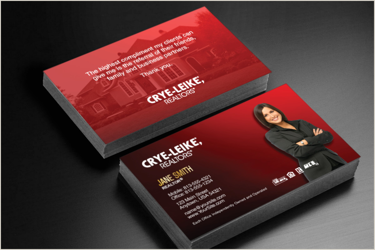 Unique Real Estate Agent Business Cards Crye Leike Realtors ❤️🏡❤️ Realtor Cryeleike