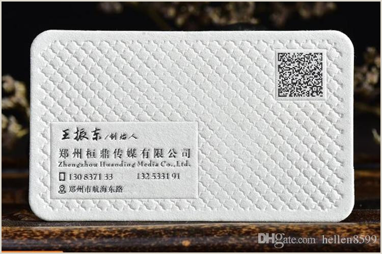 Unique Relief Business Cards 2020 Personality Qr Code Printing Paper Business Card Double Sided Custom Card Embossed Hot Stamping Business Card From Hellen8599 $88 45