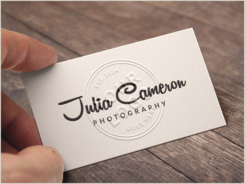 Unique Relief Business Cards Embossed Business Card Mockup