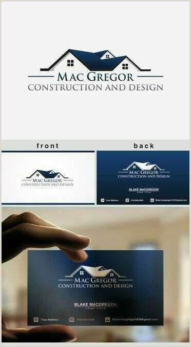 Unique Roofing Business Cards Professional Logo Design Agorastee