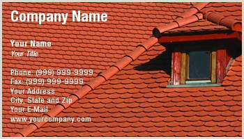 Unique Roofing Business Cards Roofing Business Cards