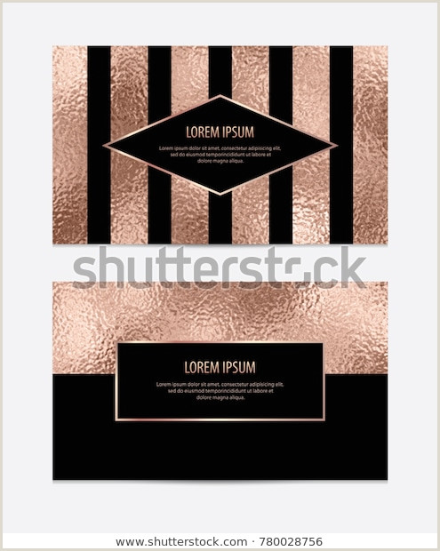 Unique Rose Gold Business Cards Modern Business Card Rose Gold Texture Stock Vector Royalty