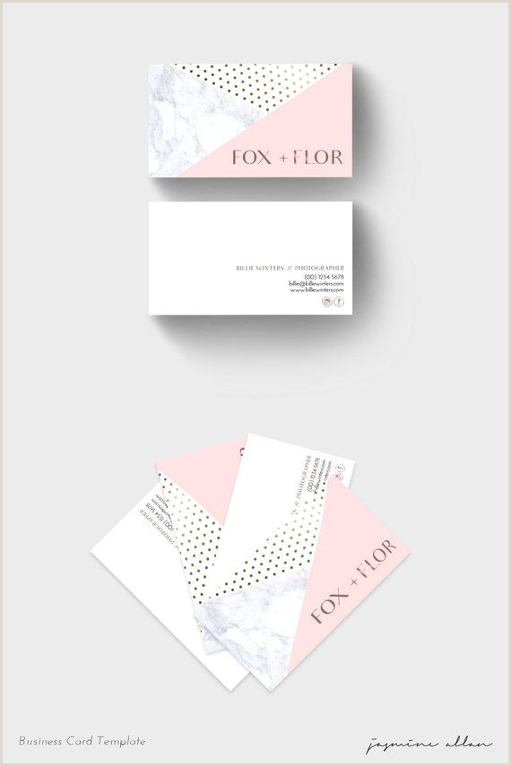 Unique Rose Gold Business Cards Pink And Rose Gold Business Card Design Shop Template