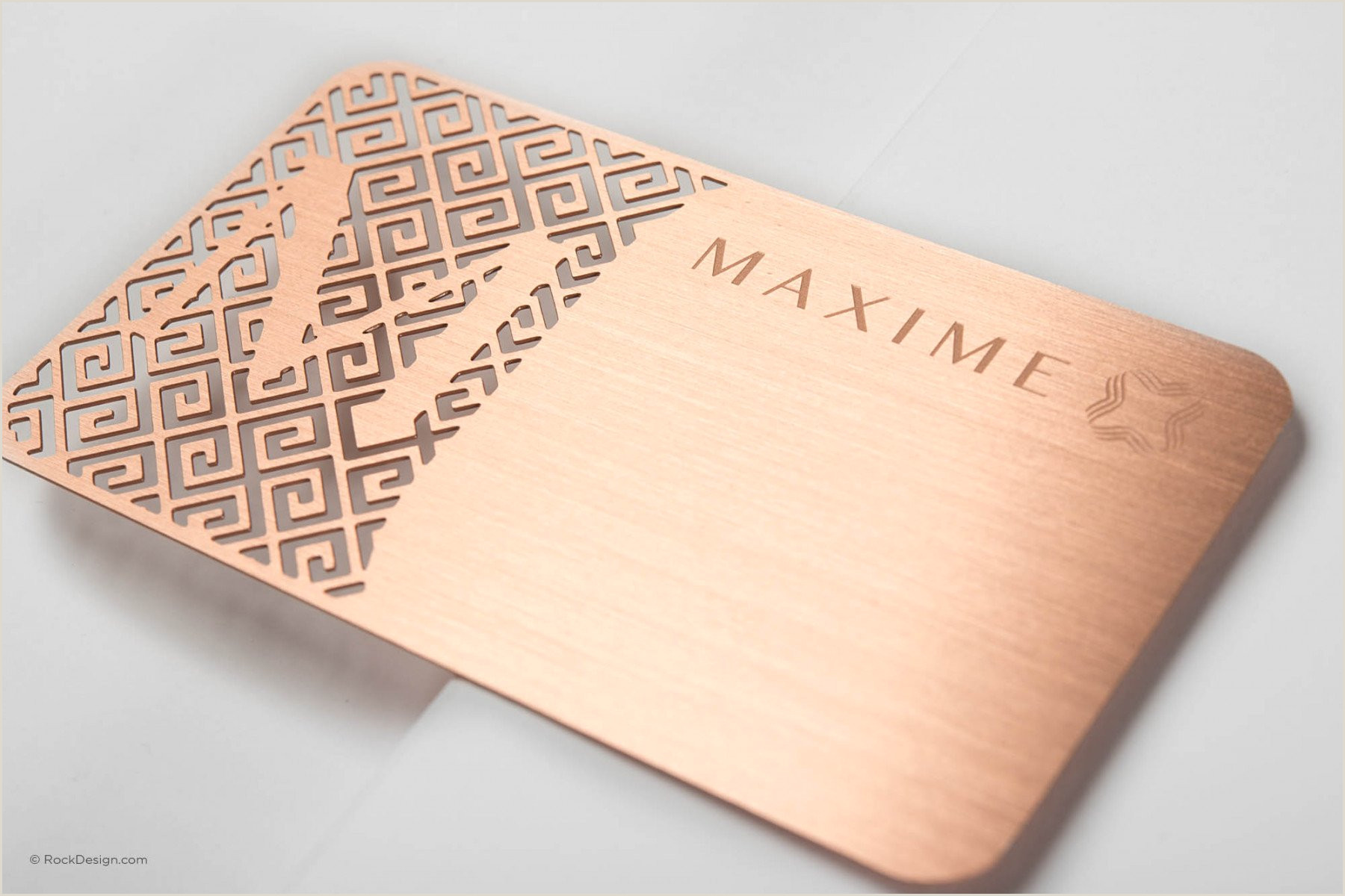 Unique Rose Gold Business Cards Rose Gold Metal Business Cards