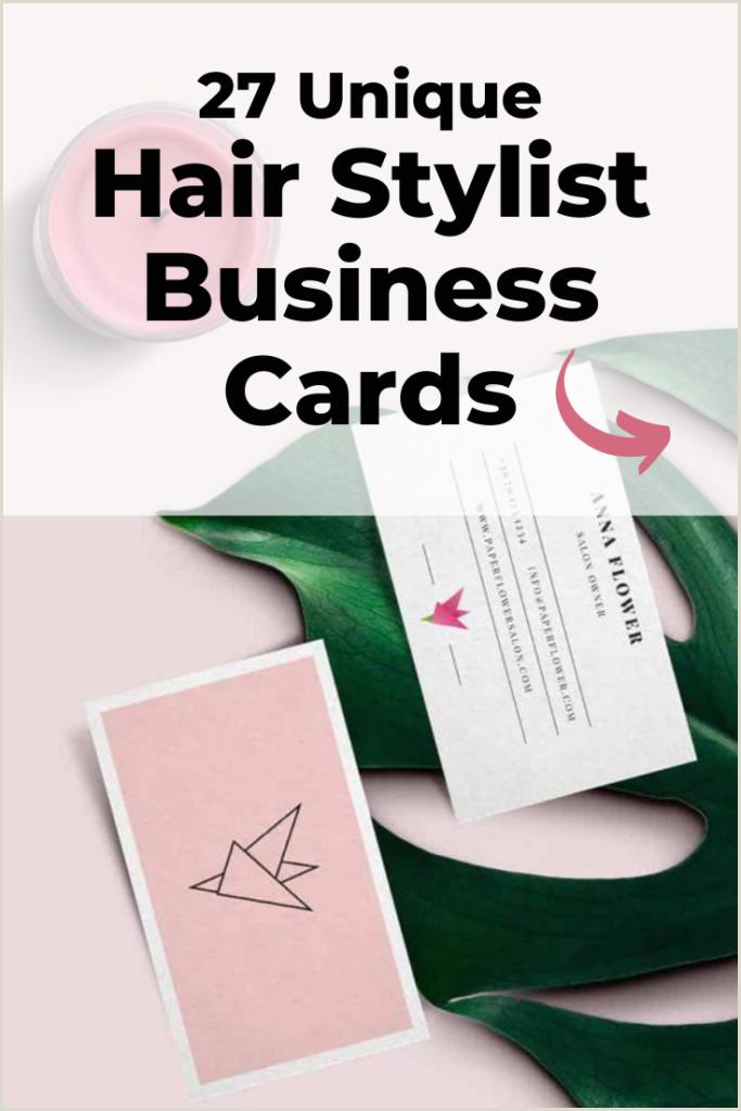 Unique Salon Business Cards 27 Truly Unique Salon & Hairstylist Business Cards [ ]