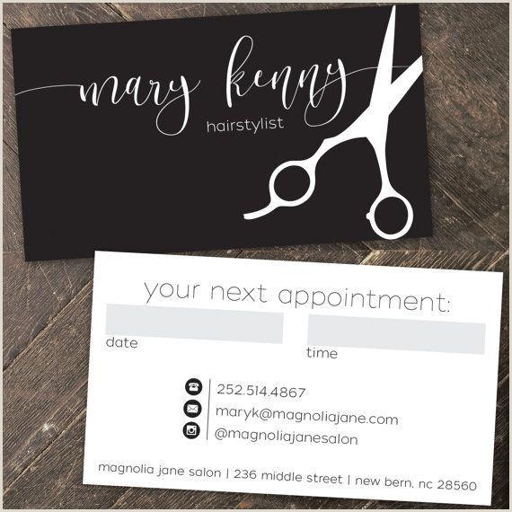 Unique Salon Business Cards Modern Custom Hair Stylist Business Cards Professionally