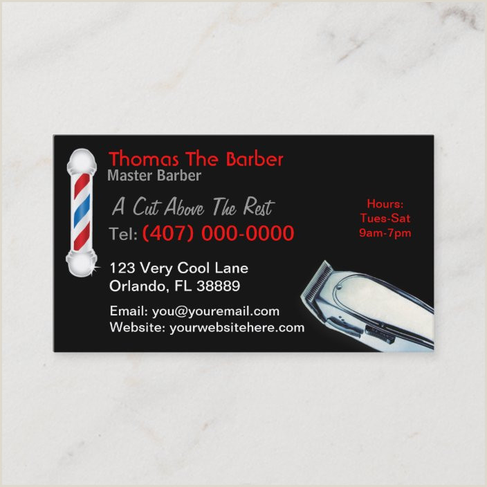 Unique Shaped Business Cards Barber Pole Barber Business Card Hair Cuts & Styles