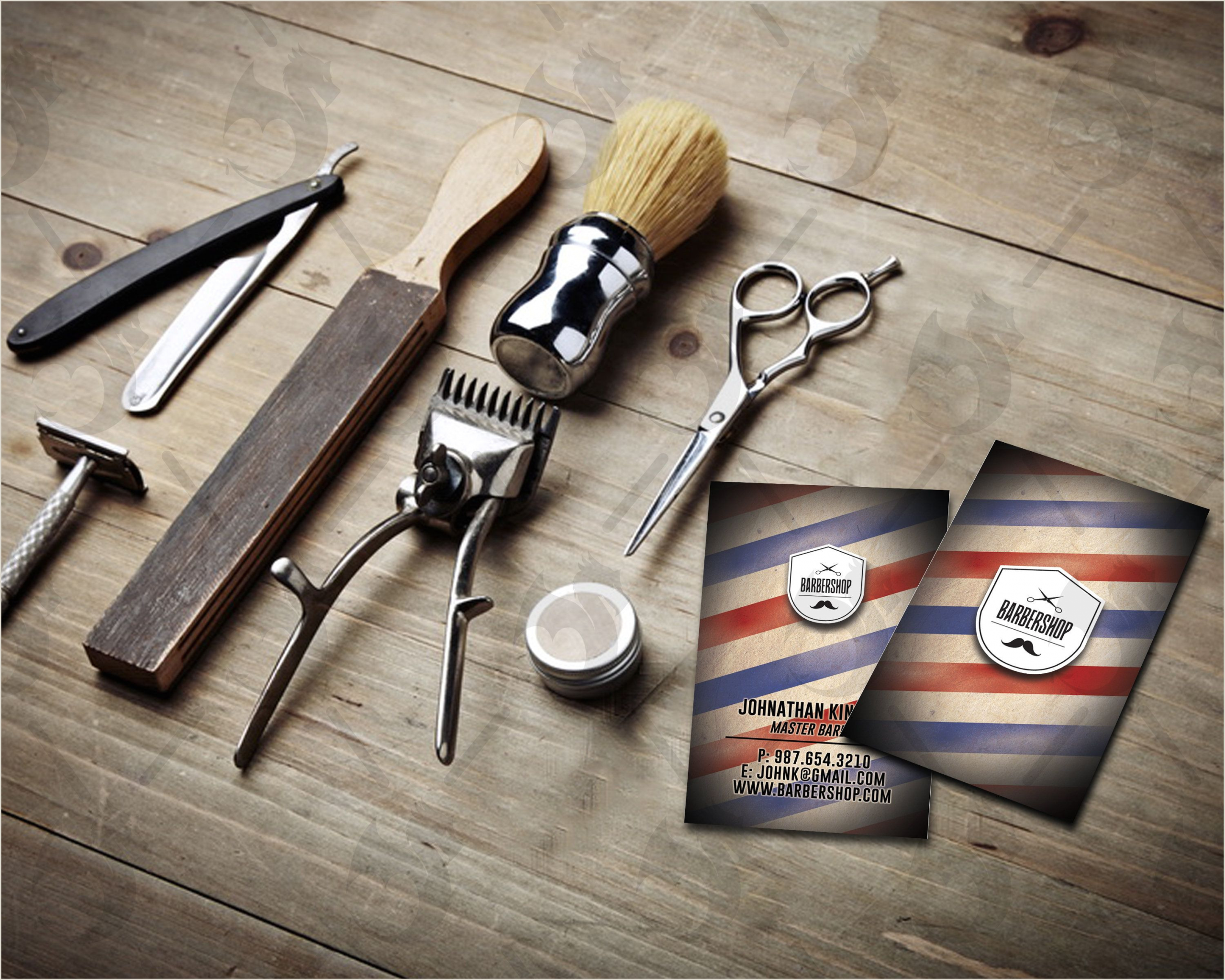 Unique Shaped Business Cards Barber Pole Barber Shop Business Cards Vintage Business Card Barber