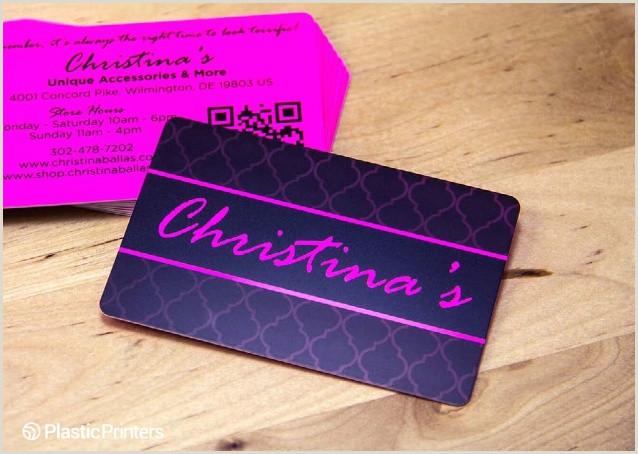 Unique Silver Plastic Business Cards 50 Unique Plastic Business Cards