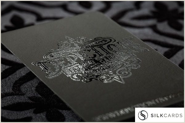 Unique Silver Plastic Business Cards Black On Black Business Card Design With Spot Uv For