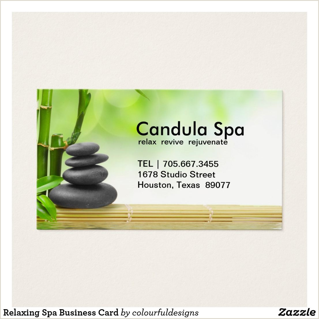 Unique Spa Business Cards Relaxing Spa Business Card Zazzle In 2020