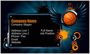 Unique Sport Business Cards 15 Team Sports Business Card Design Ideas