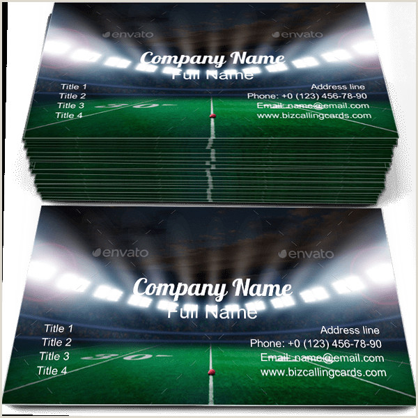 Unique Sport Business Cards ✅ 131 Sport & Games Business Card Examples