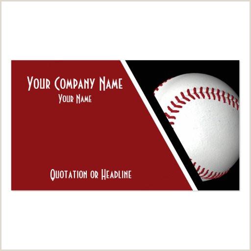 Unique Sport Business Cards Baseball Baseball Business Card Templates