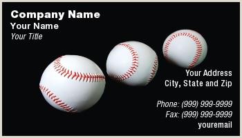 Unique Sport Business Cards Baseball Baseball Business Cards