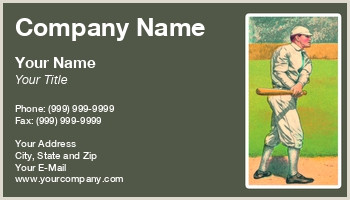 Unique Sport Business Cards Baseball Baseball Cards Business Cards