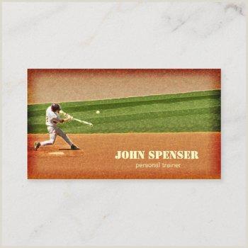 Unique Sport Business Cards Baseball Baseball Coach Business Cards
