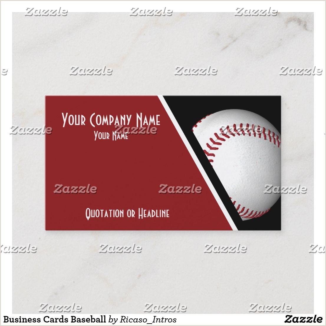 Unique Sport Business Cards Baseball Business Cards Baseball Zazzle